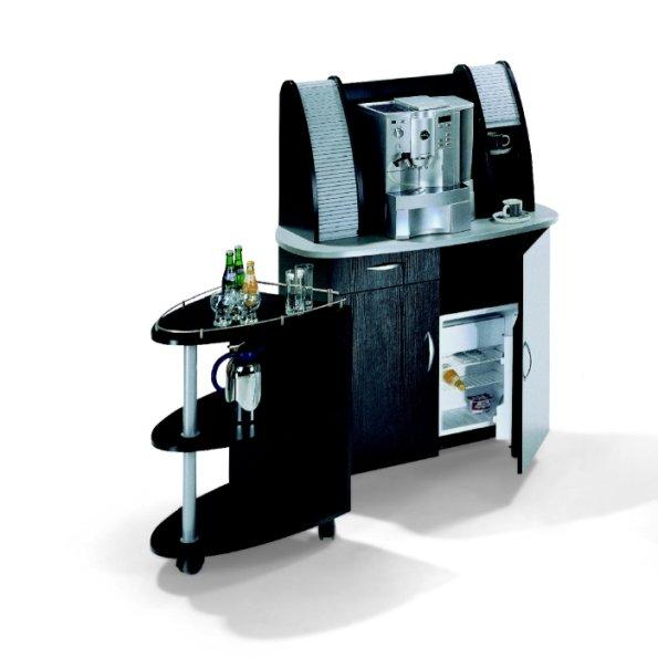 kaffeetheke f r b ro lounge konferenz mit k hlschrank schublade auf rollen f r kaffeemaschine. Black Bedroom Furniture Sets. Home Design Ideas
